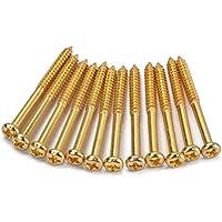 SUPVOX Tornillos de Montaje de Recogida 12Pcs Accesorio de Instrumento para Pastillas PB JB P90 (Dorado)
