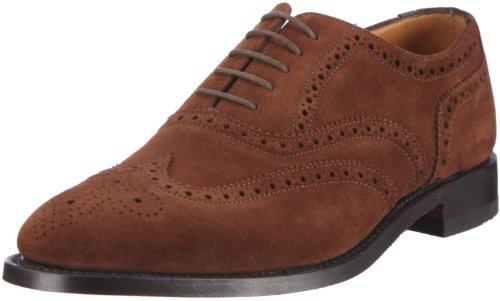 Loake - Zapatos de cordones de cuero para hombre, Marrón (Braun (Tbrownpolishedleather)), 40.5