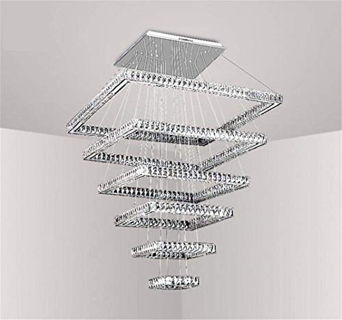 Design designer tedesco sei strati k9 plafoniera di cristallo lampadario creativo hotel a cinque stelle arredamento moderno lampada di lusso? oem? , bianca ( colore : warm white , dimensione : - )