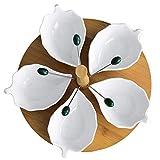 Muster Rotating Fruit Plate Kreative Blütenblatt Fruit Box Candy Platte über Festival Neujahr Multi-Korn Samen Trockenfrüchte Aufbewahrungsbox