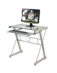 coavas Bureau d'ordinateur en verre plateau Table pour ordinateur portable