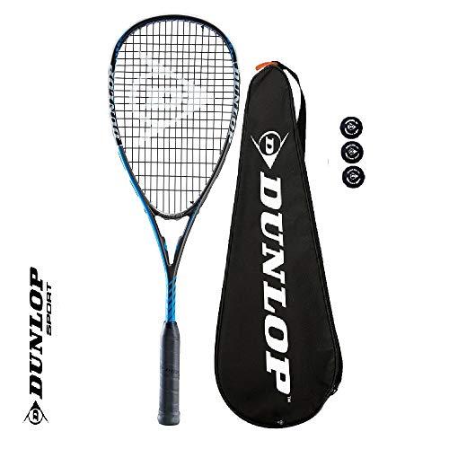 Dunlop Blackstorm Power 3.0 Squashschläger inkl. 3x Squashbällen