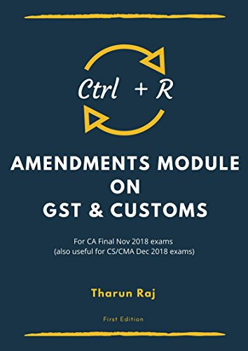 """Ctrl + R"" - Amendment Module on GST & Customs"
