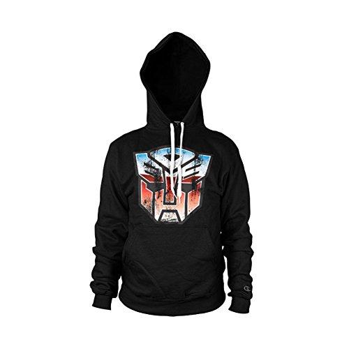 Distressed Autobot Shield Hoodie (Black), XX-Large (Autobots Hoodie)