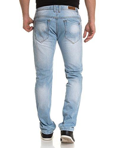 BLZ jeans - Jean bleu clair délavé et déchiré Bleu