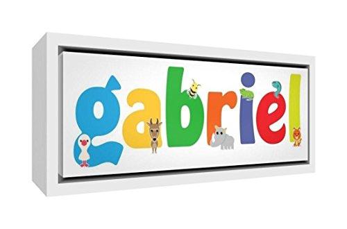 Little Helper Napperon avec Coaster Style Illustratif Coloré avec le Nom de Jeune Garçon Gabin