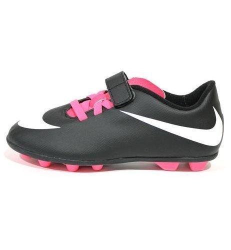 Nike  JR Bravata FG-R, chaussures de football garçon Noir