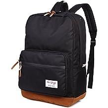 HotStyle 915s Vintage mochila colegio 24L - Impermeable para portatil de 15-inch - Negro