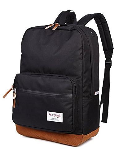 HotStyle 915s Sac a dos college - Imperméable pour ordinateur portable 15 pouces - Noir
