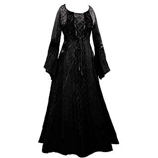 AEON Long Grey Black Medieval Princess Dress 10 12 14 16 18 20 22 24 26 28 30 32 Plus Size Goth Gothic Occult Fancy Skirt Corset Velvet Witch (18/20)