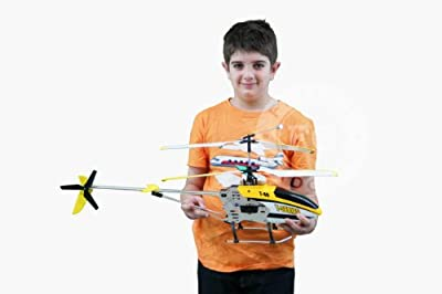 Flying Gadgets Large 3 Channel 2.4ghz Remote Control (RC) Gyroscope Helicopter For Adults & Children (Yellow)
