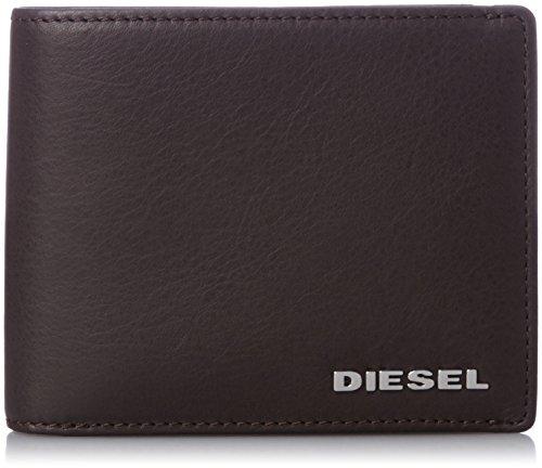 Diesel Portafoglio in Pelle da Uomo Jasper Wallet Portamonete Vera Pelle - Marrone