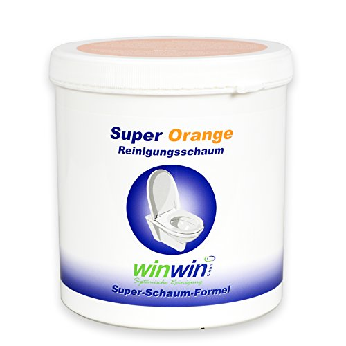 winwin clean Systemische Reinigung - SUPER ORANGE REINIGUNGSSCHAUM/WC-Schaum 1KG - Schaum Pulver