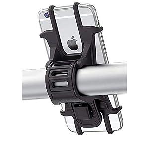 41VOSdC4t9L. SS300 Bovon Porta Cellulare Bici, Supporto Bici Smartphone, Manubrio Universale Bici Moto MTB per Tutti Gli Smartphone e…