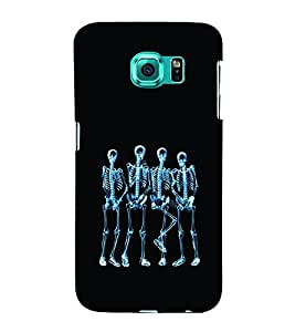Skeleton Party 3D Hard Polycarbonate Designer Back Case Cover for Samsung Galaxy S6 Edge :: Samsung Galaxy Edge G925