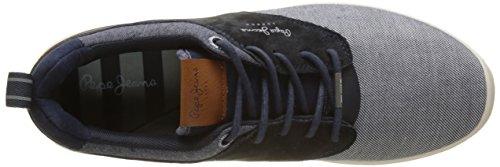 Pepe Jeans London Jayden Fabric, Sneakers Basses Homme Bleu (Marine)