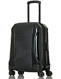Pack Easy Biarritz Cabin-Trolley mit 4 Rollen,  aus Polycarbonat & Polyester 53 Cm 37 Ltr., black