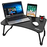 Gizga Essentials Multi-Purpose Portable Wooden Laptop Table (Black)