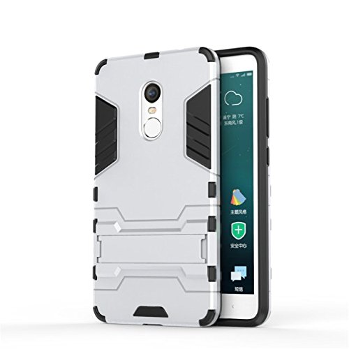 Xiaomi Hongmi Note 4 Fall-Abdeckung 2 in 1 New Armour Tough Art Hybrid Dual Layer Rüstung Defender PC Hard Cases Standplatz-Abdeckung Stoß- Fall Für Xiaomi Hongmi Note 4 ( Color : Red , Size : Xiaomi  White