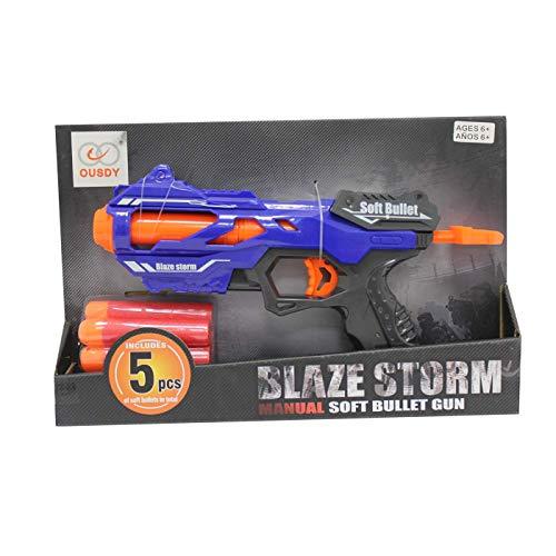 Ousdy - Pistola Juguete Blaze Storm ZC7108 Proyectiles Goma Eva 5PCS