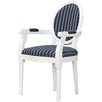 Esszimmerstuhl BAROCK Küchenstuhl Stuhl Sitzmöbel Massivholz schwarz