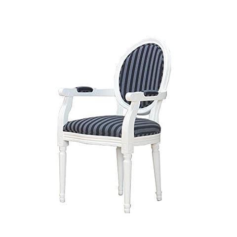 Baroque salle à manger chaise, Style rococo, Antique Blanc avec