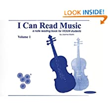 I Can Read Music: A Note Reading Book for Violin Students: 1