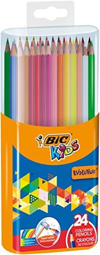 BIC 922511 Kids Evolution Buntstifte Box, ab 5 Jahren, Set mit 24 Farbstiften