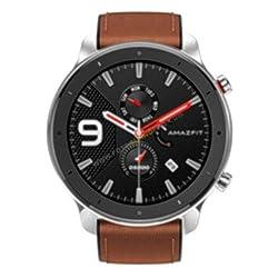 Amazfit GTR 47mm Smart Watch mit ganztägiger Herzfrequenz- und Aktivitätserfassung, extrem Langer Akkulaufzeit(Stainless Steel)