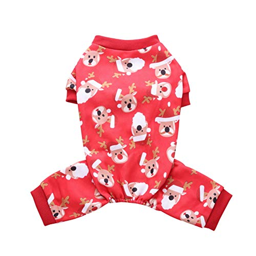 Kalaokei Haustier-Hundewelpen-Weihnachtskleid Netter Schneemann-Rotwild-Kostüm-Herbst-Kleidung Deer* ()