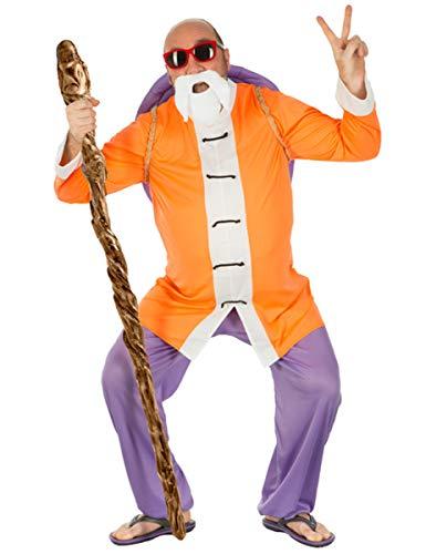 Gohan Kostüm - Chaks Muten Roshi Dragon Ball-Kostüm für Herren orange-Weiss-blau XL
