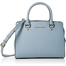 Michael Kors - Selma, Bolsos maletín Mujer, Azul (PALE BLUE), 10x23x29