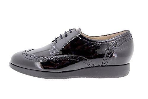 Chaussure femme confort en cuir Piesanto 9630 lacet confortables amples Noir