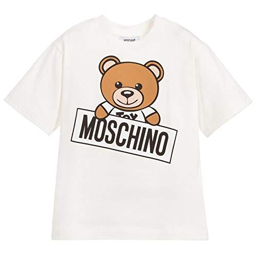 Moschino maxi t-shirt bianca con orsacchiotto 12a