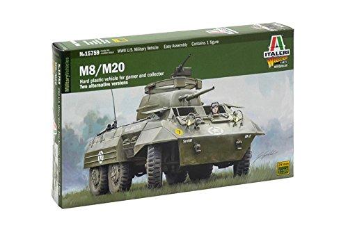 Italeri 510015759 - 1:56 M8 / M20, Tank Dirver Included (Model Paint Kit Militär)