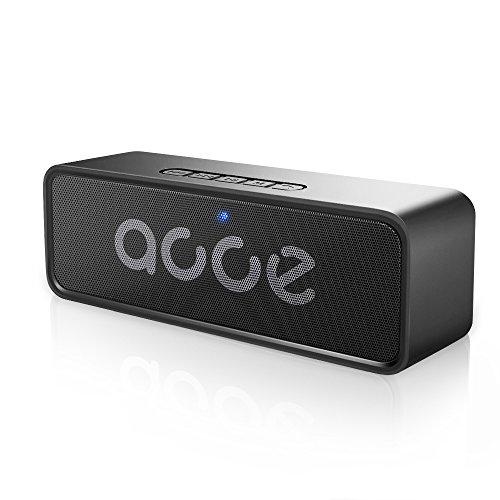 Portable Bluetooth Lautsprecher,AOOE Power Funktion 6W Dual-Treiber Lautsprecher mit 3D Stereo Starke Bässe Eingebaute Rauschunterdrückung Mic 12-Stunden-Spielzeit Wasserdicht Unterstützung FM/TF/USB