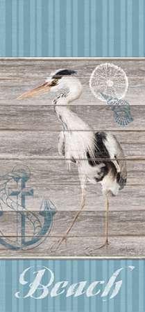 Feelingathome-Impression-sur-papier-fin-art--Plage-Heron-cm107x49-Sujet-Affiche-pour-cadre