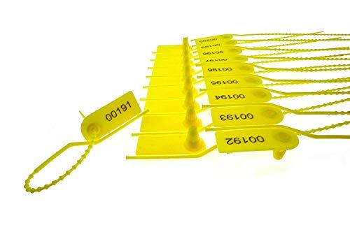 Yafeng plastica sigillo di sicurezza Pull tight seal plastica a prova di manomissione, a strappo, guarnizione per estintore sl-18F (confezione da pezzi)