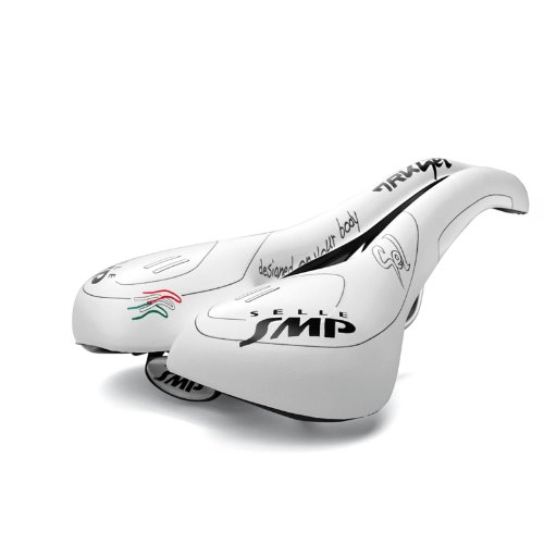 Selle SMP TRK Lady Gel donna sella bicicletta da Trekking, bianco