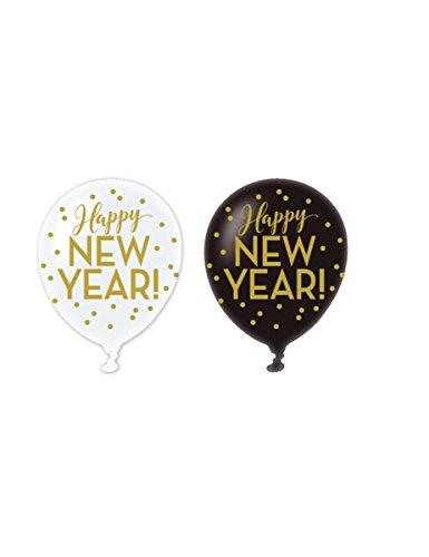 6-Happy-New-Year-Ballons-schwarz-wei-gold-30cm
