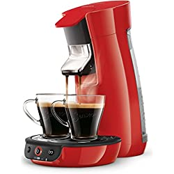 Senseo HD7829/80 Viva Café, Machine à café à dosettes (technologie booster d'arômes), rouge