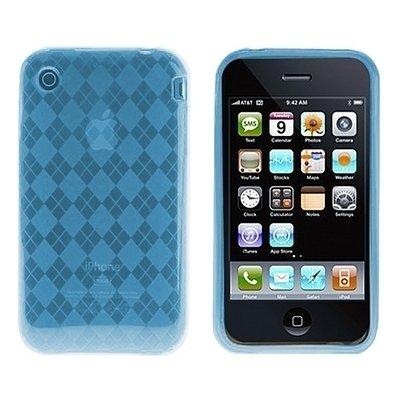 Logotrans Rhombus Series Schutzhülle für Apple iPhone 3G/3GS hellblau Hellblau