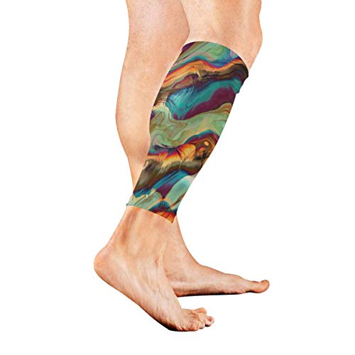 Wfispiy Close-ups of Paints in Calf Compression Sleeve Leg Compression Socks for Shin Splint Calf Pain Relief Men Women and Runners Improves Circulation Recovery Polyester Warm Ups
