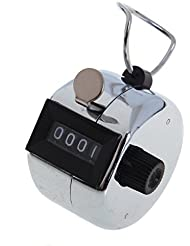 SODIAL(R) 12 metales manual contador contador 4 de Palm Golf Club Clicker