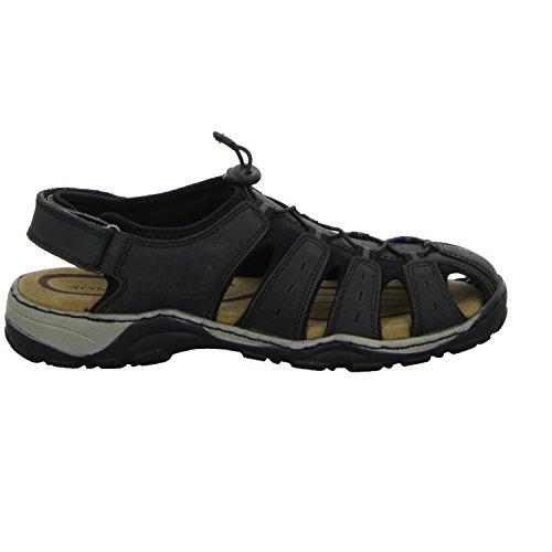 scarbello Y61-Y61-01 Herren Sandalette Ferse geschlossen sportlicher oder eleganter Boden Schwarz (Schwarz)