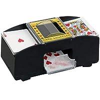ningxiao586 Mezclador de Tarjetas eléctrico, máquina mezcladora operada a batería de 2 Cubiertas para Mezclar Naipes Mezclador operado a batería para póquer, Rummy, etc.