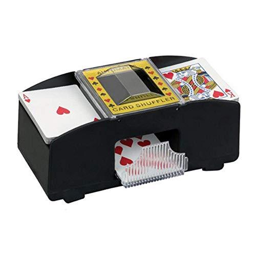 Ganmaov Elektrische Automatische Kartenmischmaschine, UNO Kartenmischmaschine, Hölzerner kartenmischer Poker Shuffler für Poker-Set, Brettspiel-Poker-Spielkarten