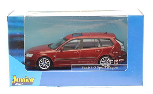 brand-new-saab-9-3-aero-sport-estate-in-metaiilc-red-143-scale-model-diecast