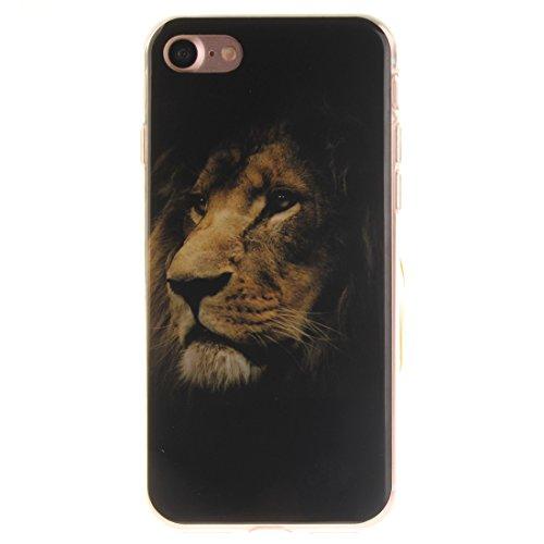 Cover Apple iPhone 7(4,7pollici), nancen Ultra Sottile Custodia morbida Custodia Cover TPU Silicone Case Cover di protezione leone