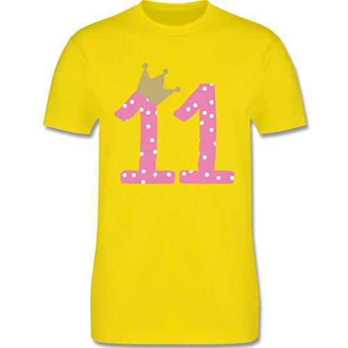 Geburtstag - 11. Geburtstag Krone Mädchen Elfter - Herren Premium T-Shirt Lemon Gelb